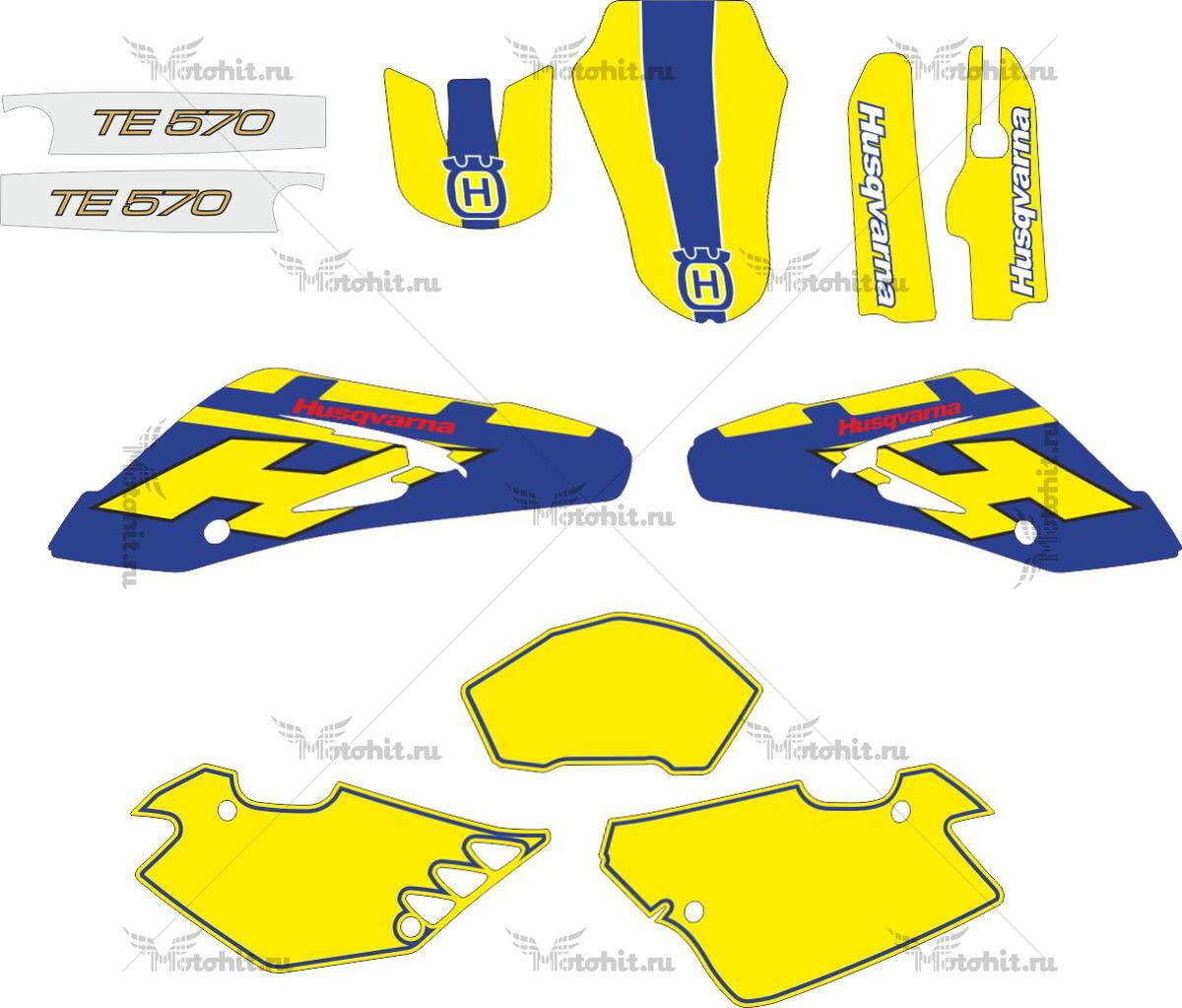 Комплект наклеек HUSQVARNA TE-570 2002