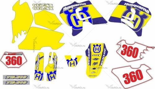 Комплект наклеек HUSQVARNA TE-610 2003 MOLDE