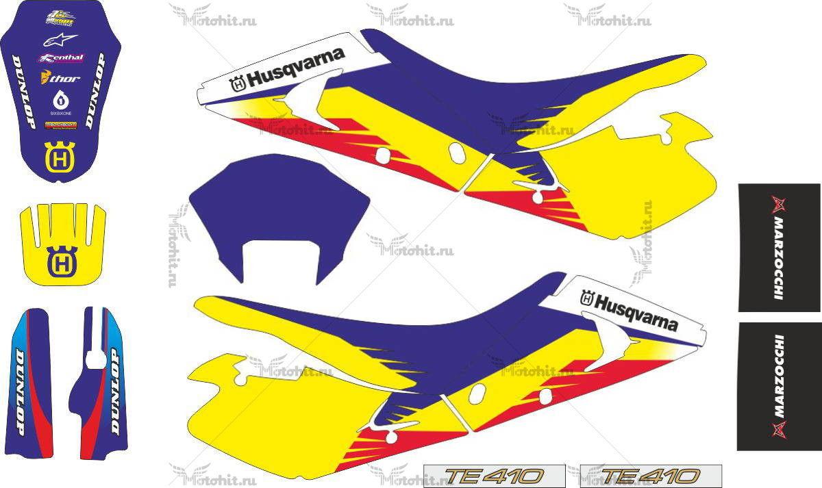 Комплект наклеек HUSQVARNA WR-250 2001 ONE