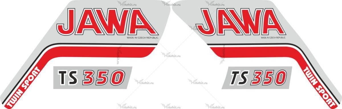 Комплект наклеек JAWA TS-350