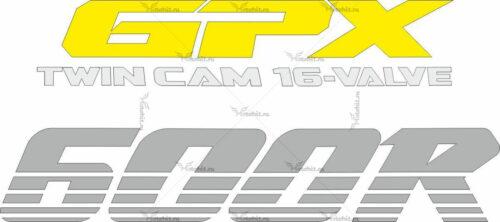 Наклейка Kawasaki GPX-600-R