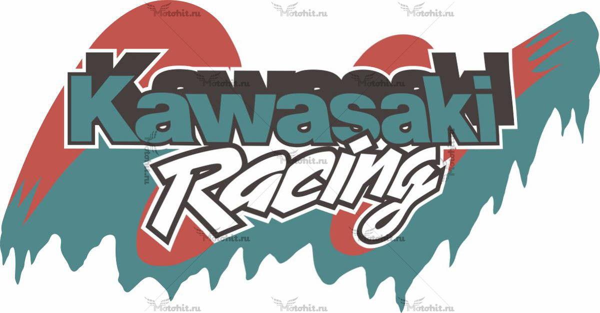 Наклейка Kawasaki RACING
