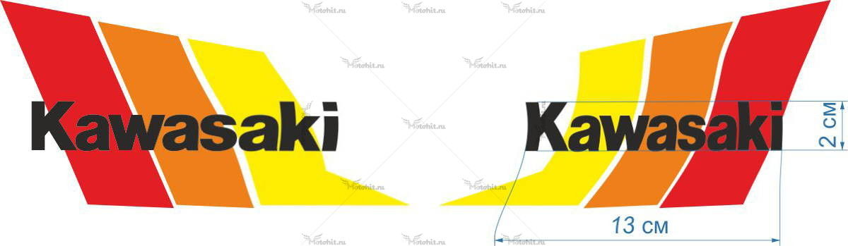 Комплект наклеек Kawasaki COLOR