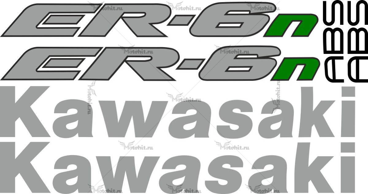 Комплект наклеек Kawasaki ER-6N