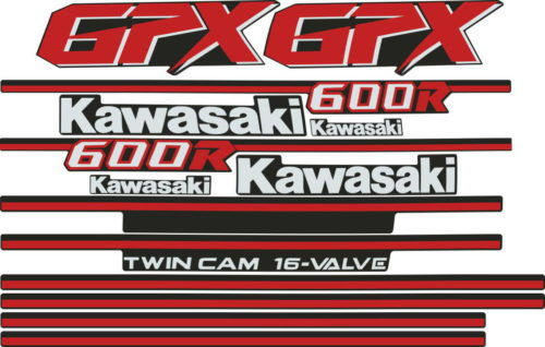 Комплект наклеек Kawasaki GPX-600-R 1985 FOR-WHITE