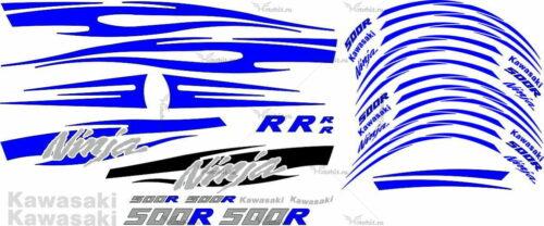 Комплект наклеек Kawasaki GPZ-500 R