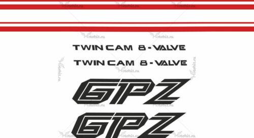 Комплект наклеек Kawasaki GPZ