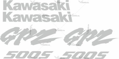 Комплект наклеек Kawasaki GPZ-500-LIGHT