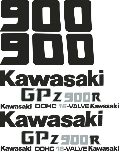 Комплект наклеек Kawasaki GPZ-900 1990+