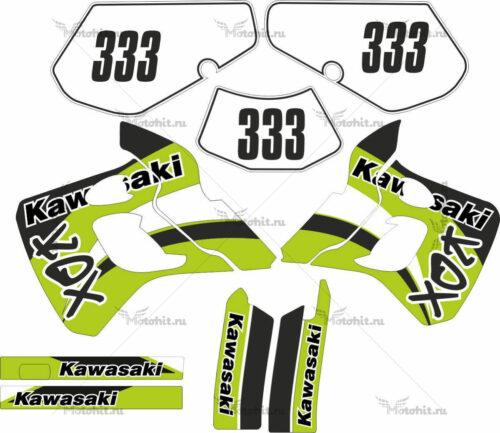 Комплект наклеек Kawasaki KDX-250 1991-1994