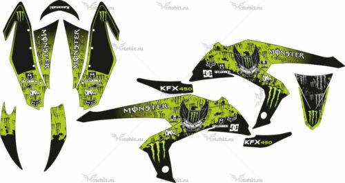 Комплект наклеек Kawasaki KFX-450 MONSTER