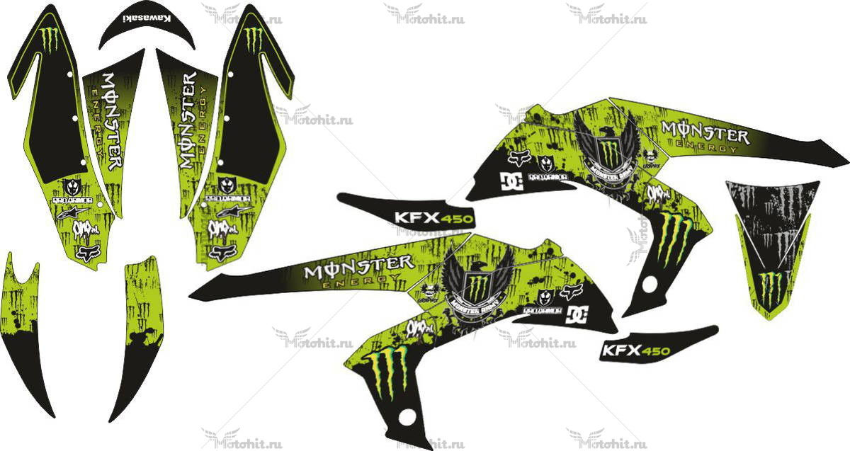 Комплект наклеек Kawasaki KFX-450 MONSTER
