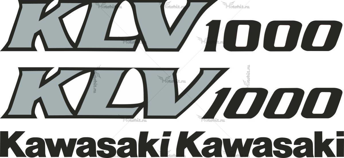 Комплект наклеек Kawasaki KLV-1000 2004-2006