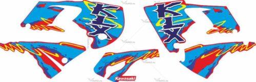 Комплект наклеек Kawasaki KLX-650 2004