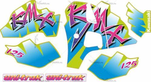 Комплект наклеек Kawasaki KMX-125-KIT 1992