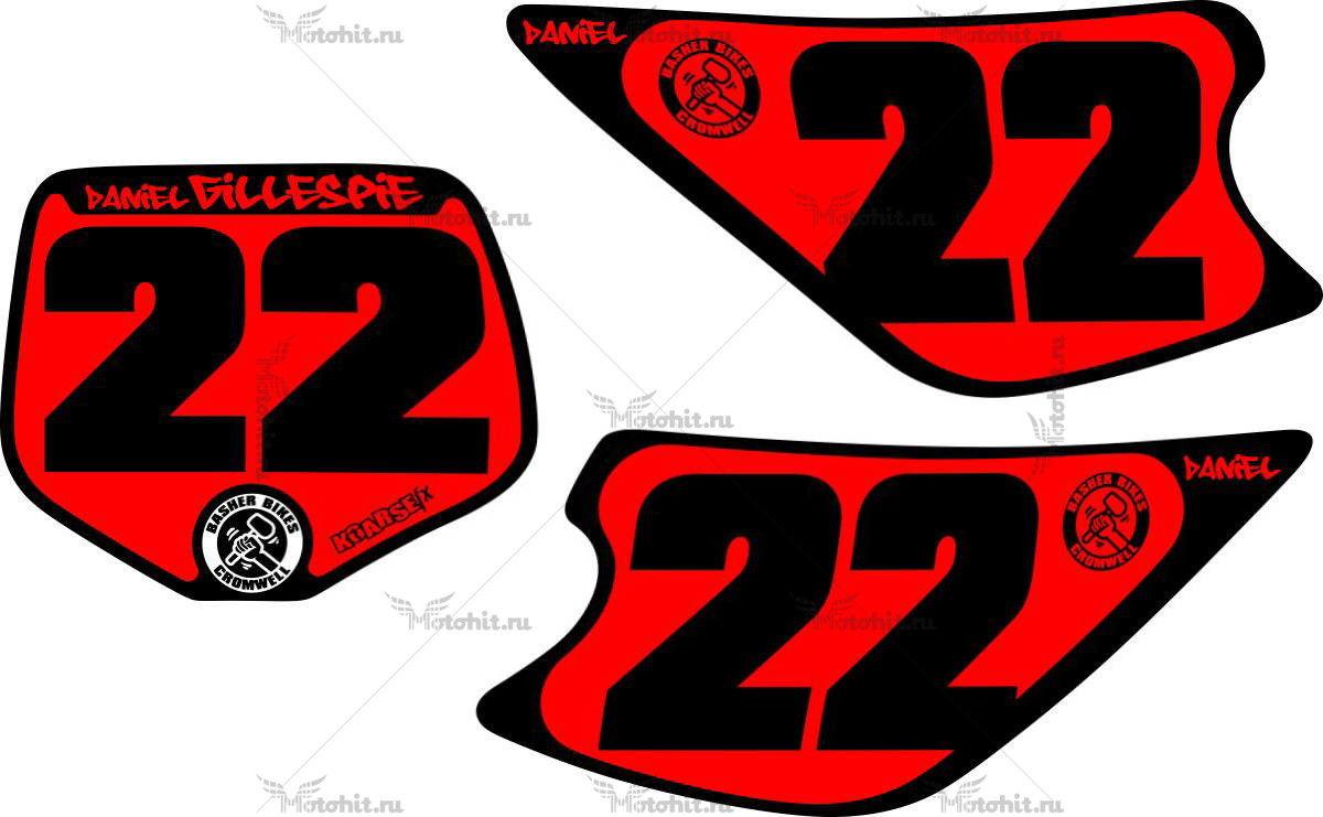 Комплект наклеек Kawasaki KX-85 NUMBER-PLATES