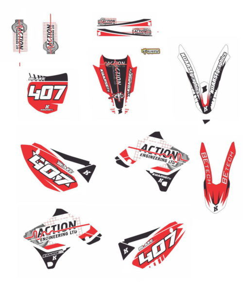 Комплект наклеек Kawasaki KXF-250 2009-2012 BLAKE