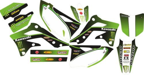 Комплект наклеек Kawasaki KXF-450 2012-2014