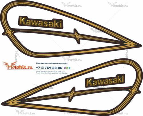 Комплект наклеек Kawasaki LTD-454 TANK 1985-1990