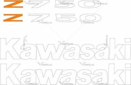 Комплект наклеек Kawasaki Z-750 2004