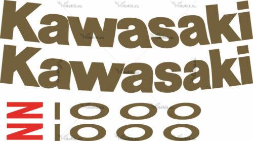Комплект наклеек Kawasaki Z-1000 2004