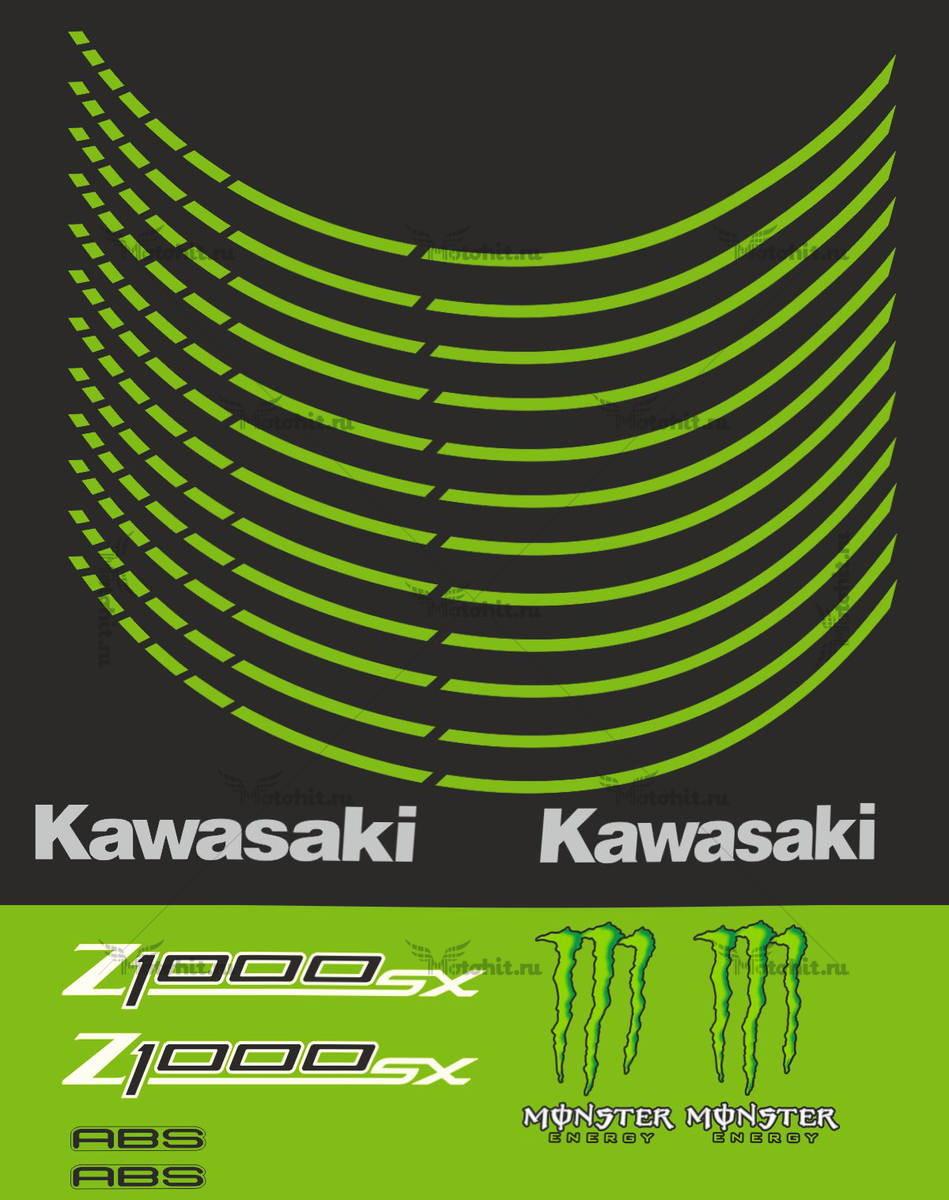 Комплект наклеек Kawasaki Z-1000-SX 2011+