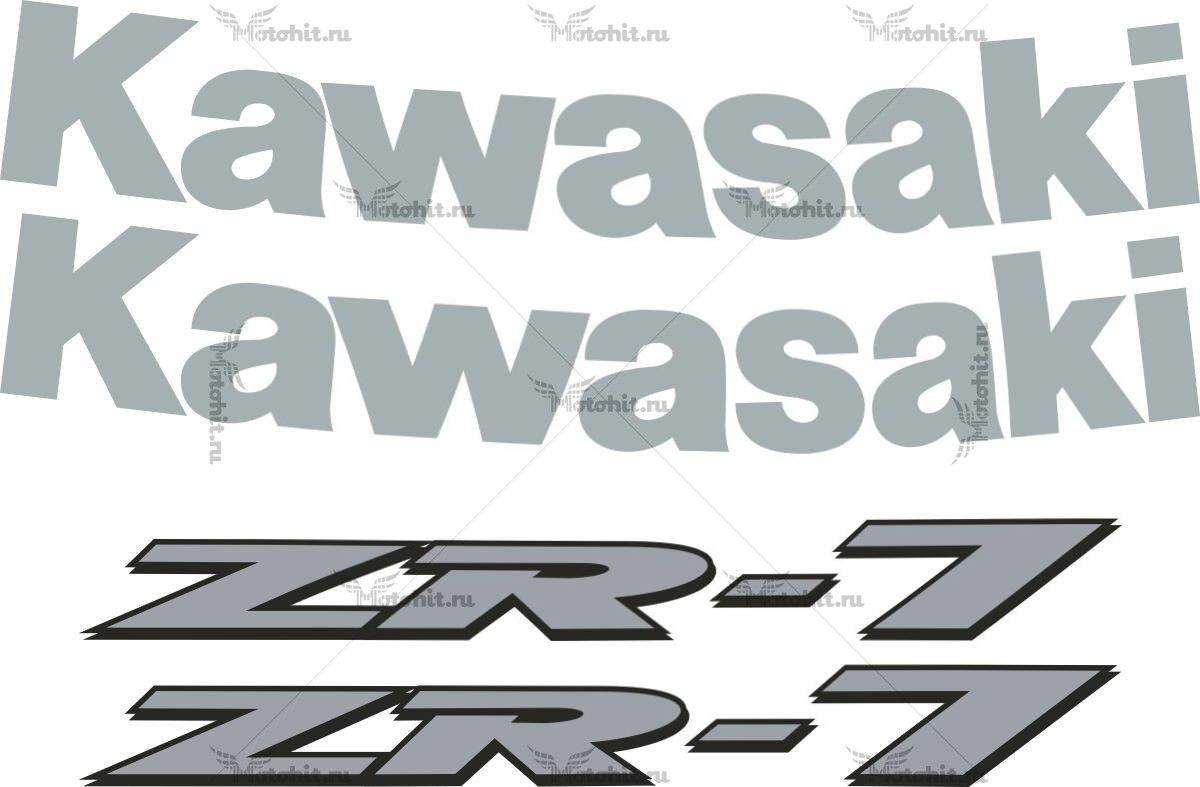 Комплект наклеек Kawasaki ZR-7 1999-2003