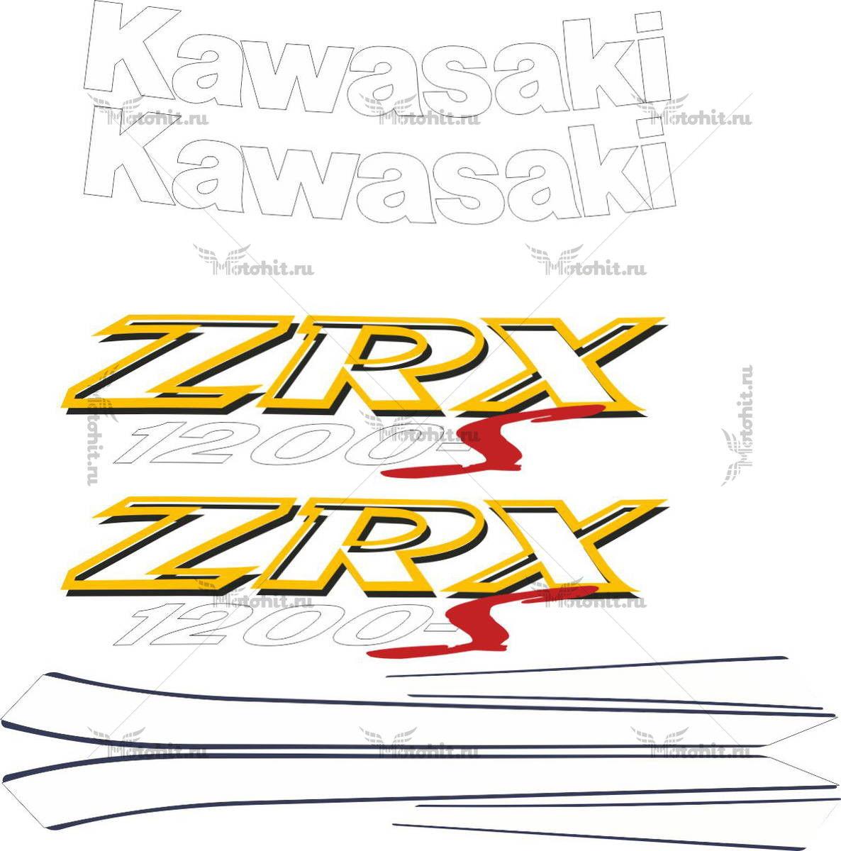 Комплект наклеек Kawasaki ZRX-1200 2001