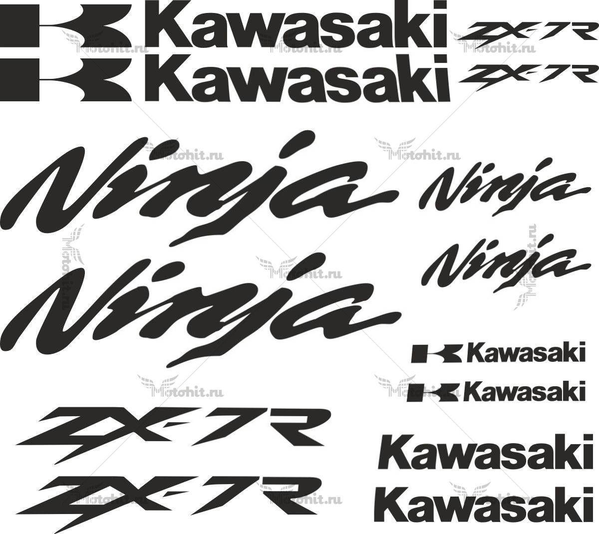 Комплект наклеек Kawasaki ZX-6R-14-STICKER