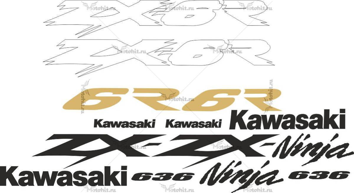 Комплект наклеек Kawasaki ZX-6R-636 2003