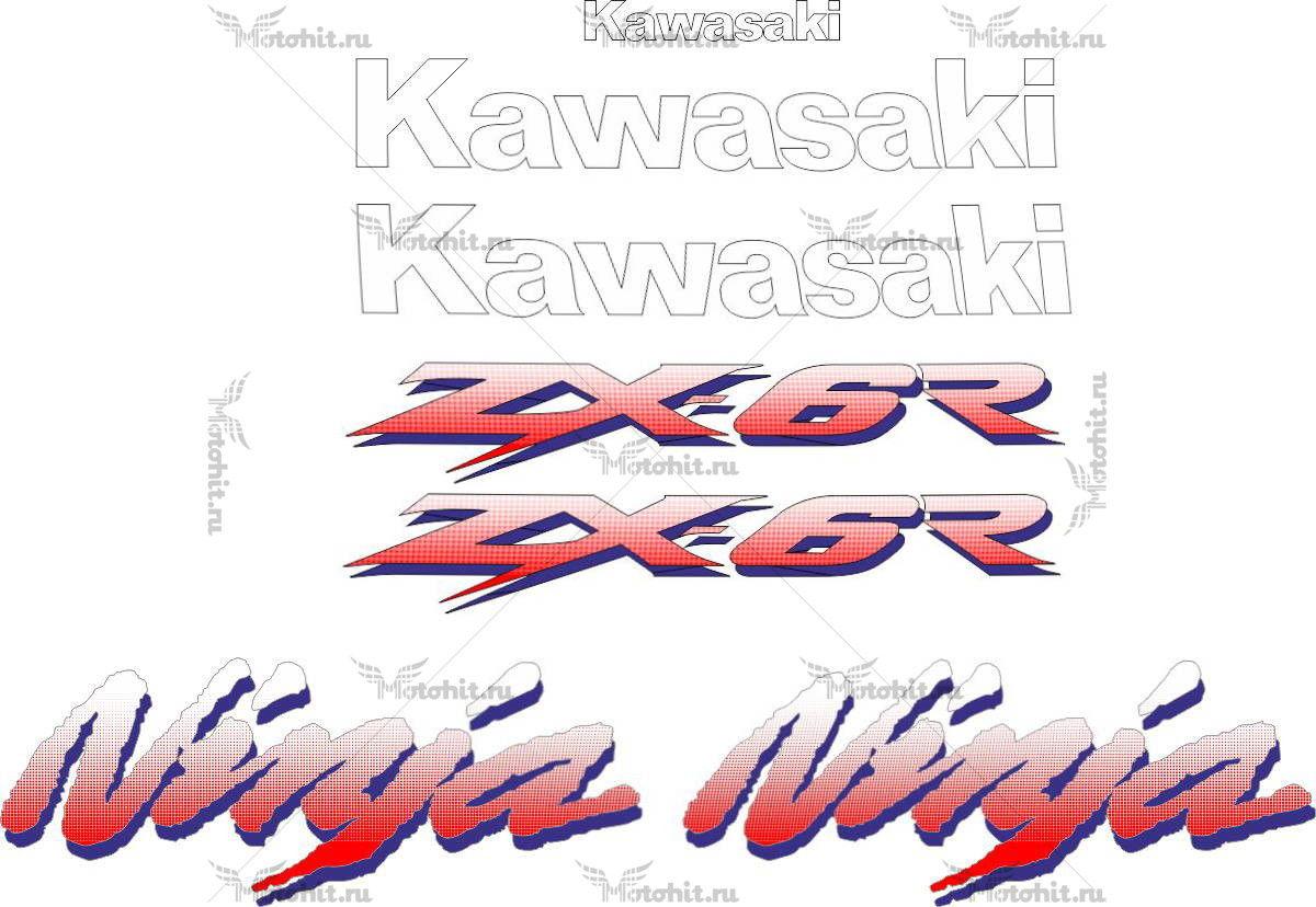 Комплект наклеек Kawasaki ZX-6R 1993-1995