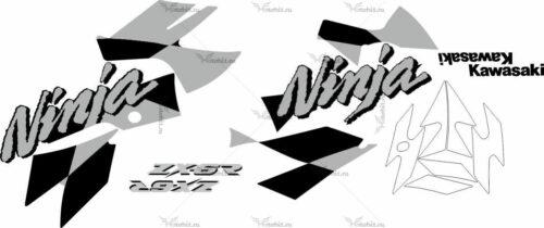 Комплект наклеек Kawasaki ZX-6R 1997 2