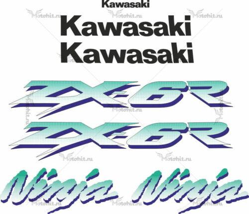 Комплект наклеек Kawasaki ZX-6R 1997-2002