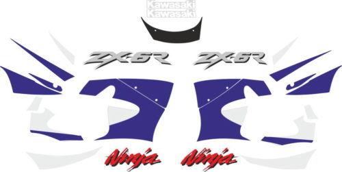 Комплект наклеек Kawasaki ZX-6R 1999
