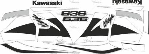Комплект наклеек Kawasaki ZX-6R 2002