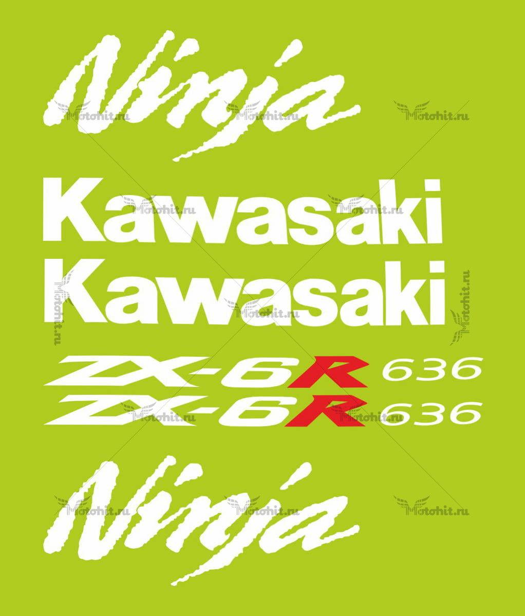 Комплект наклеек Kawasaki ZX-6R 2005-2006