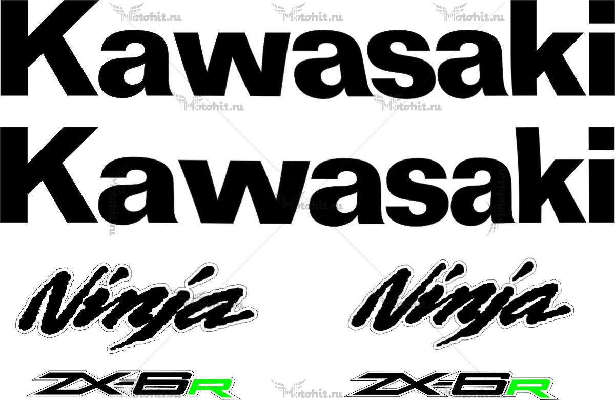 Комплект наклеек Kawasaki ZX-6R 2010