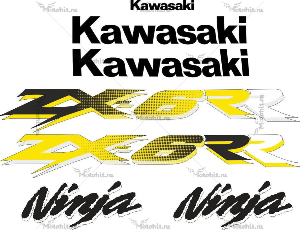 Комплект наклеек Kawasaki ZX-6R-R 2003-2004