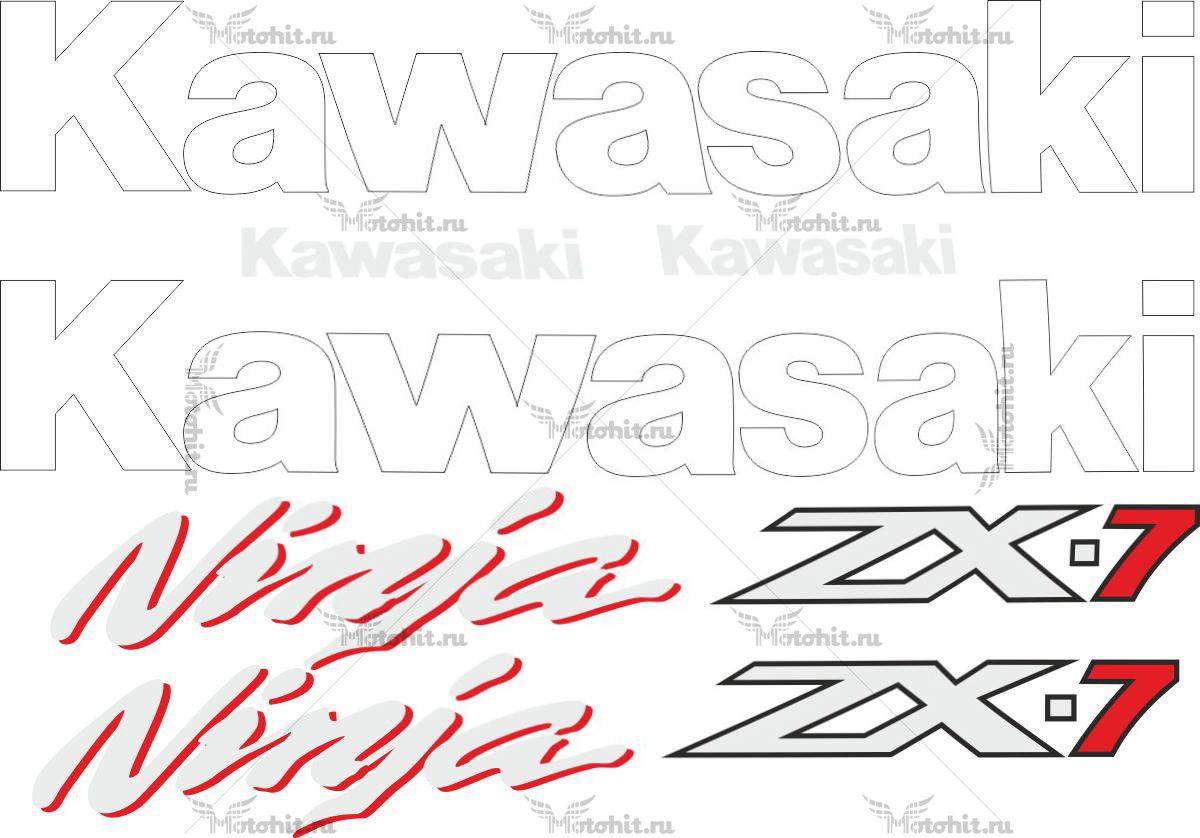 Комплект наклеек Kawasaki ZX-7 1996