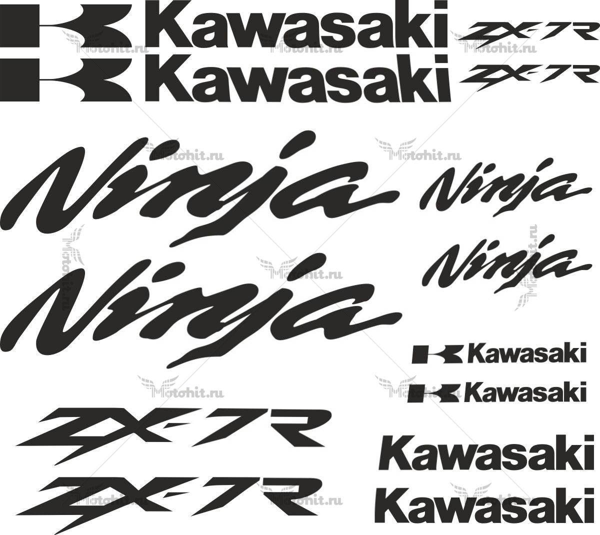 Комплект наклеек Kawasaki ZX-7R 14-STICKER