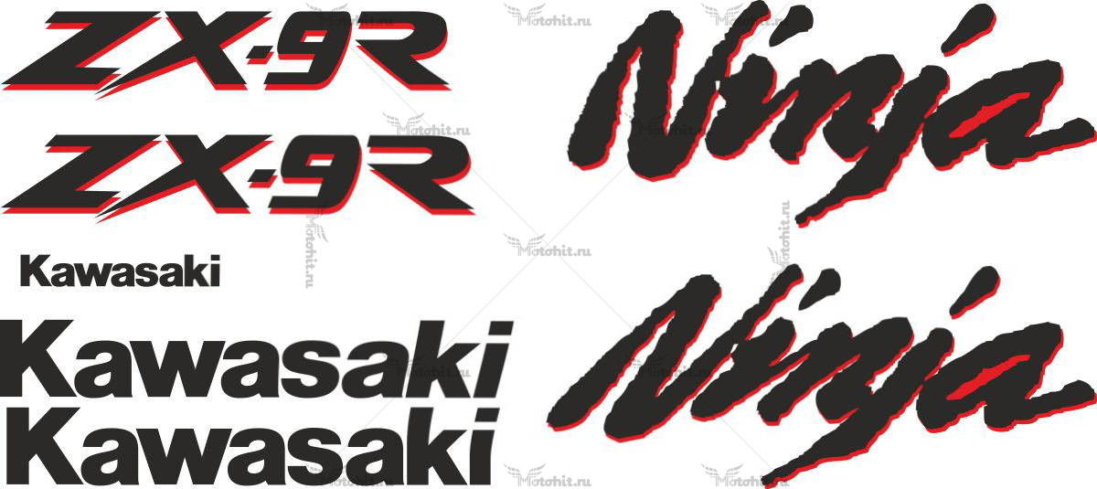 Комплект наклеек Kawasaki ZX-9R 1994