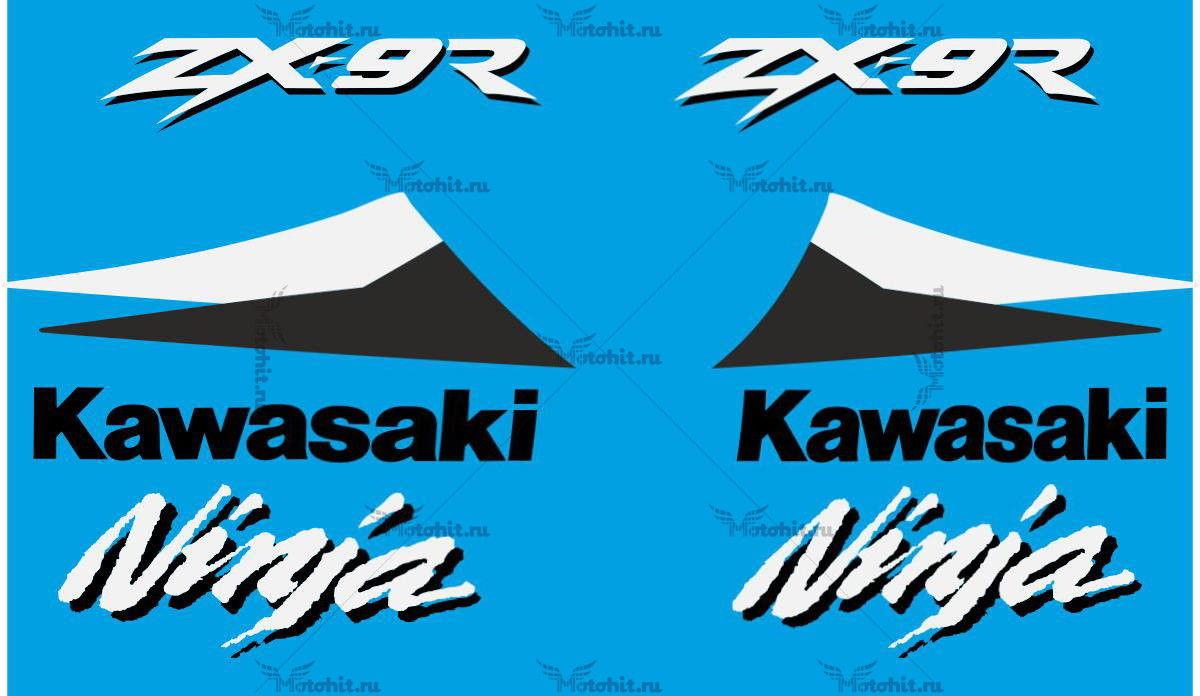 Комплект наклеек Kawasaki ZX-9R 2000 BLACK