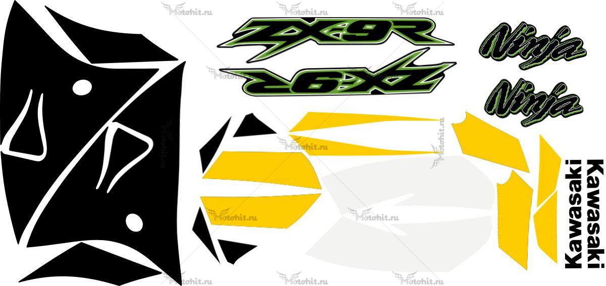 Комплект наклеек Kawasaki ZX-9R 2002