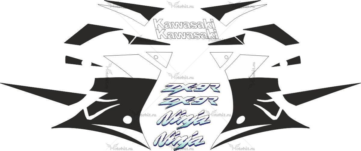 Комплект наклеек Kawasaki ZX-9R 2002 FULL