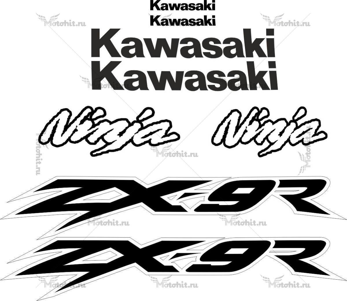 Комплект наклеек Kawasaki ZX-9R 2003