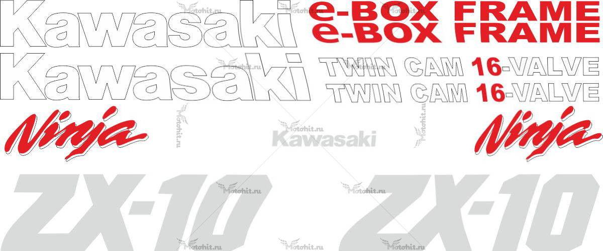Комплект наклеек Kawasaki ZX-10 1989