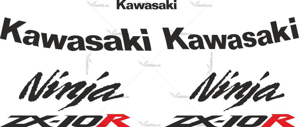 Комплект наклеек Kawasaki ZX-10-R 2006