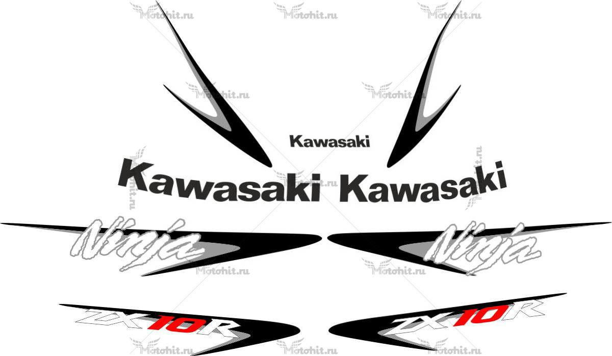 Комплект наклеек Kawasaki ZX-10-R 2007