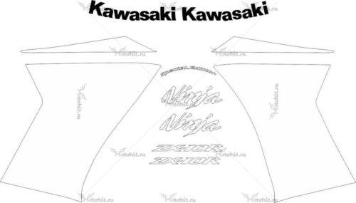 Комплект наклеек Kawasaki ZX-10-R 2009