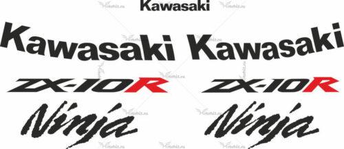 Комплект наклеек Kawasaki ZX-10-R 2010